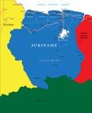 Χάρτης του Σουρινάμ Στοκ φωτογραφία με δικαίωμα ελεύθερης χρήσης