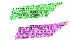 Χάρτης του Τένεσι - διανυσματική απεικόνιση Απεικόνιση αποθεμάτων