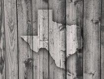 Χάρτης του Τέξας στο ξεπερασμένο ξύλο Στοκ εικόνα με δικαίωμα ελεύθερης χρήσης