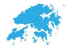 χάρτης του Χογκ Κογκ E διανυσματική απεικόνιση