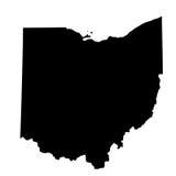 Χάρτης του U S Κράτος Οχάιο διανυσματική απεικόνιση