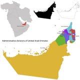 Χάρτης των Ηνωμένων Αραβικών Εμιράτων ελεύθερη απεικόνιση δικαιώματος
