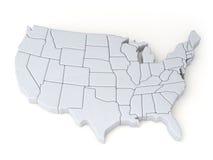 Χάρτης των Ηνωμένων Πολιτειών απεικόνιση αποθεμάτων