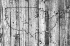 Χάρτης των ΗΠΑ στο ξεπερασμένο ξύλο Στοκ Φωτογραφίες