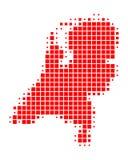 Χάρτης των Κάτω Χωρών ελεύθερη απεικόνιση δικαιώματος