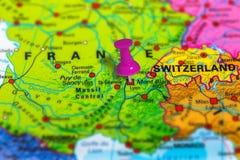Χάρτης των Καννών Γαλλία Στοκ φωτογραφία με δικαίωμα ελεύθερης χρήσης