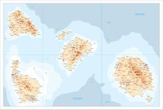 Χάρτης των μη αναγνωρισμένων νησιών Στοκ εικόνα με δικαίωμα ελεύθερης χρήσης