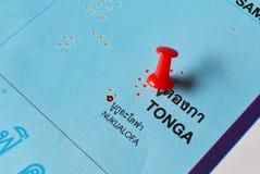 Χάρτης των Τόνγκα Στοκ Εικόνες