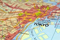 χάρτης Τόκιο στοκ φωτογραφία