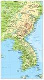 Χάρτης χερσονήσων της Κορέας, χάρτης της Βόρειας και Νότια Κορέας Στοκ Φωτογραφία