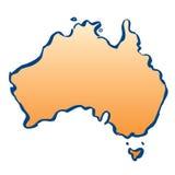 Χάρτης χρώματος της Αυστραλίας απεικόνιση αποθεμάτων