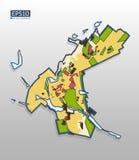 Χάρτης χωρισμού πόλεων Στοκ εικόνα με δικαίωμα ελεύθερης χρήσης
