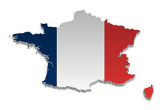 χάρτης 4 Γαλλία ελεύθερη απεικόνιση δικαιώματος