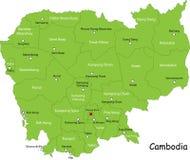 Χάρτης Combodia διανυσματική απεικόνιση