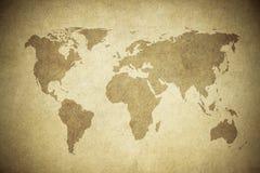 Χάρτης Grunge του κόσμου Στοκ Εικόνες