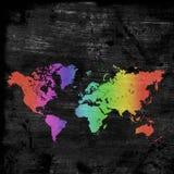 Χάρτης Grunge του κόσμου απεικόνιση αποθεμάτων