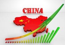 Χάρτης Illustratuin της Κίνας Στοκ φωτογραφία με δικαίωμα ελεύθερης χρήσης