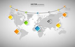 Χάρτης Infographic Στοκ Φωτογραφίες