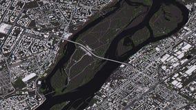 Χάρτης Krasnoyarsk στους τρισδιάστατους isometric δρόμους και τα κτήρια τοπίων απεικόνιση αποθεμάτων