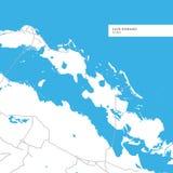 Χάρτης Romano Cayo του νησιού ελεύθερη απεικόνιση δικαιώματος