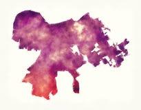 Χάρτης watercolor πόλεων της Λουισβίλ Κεντάκυ μπροστά από μια άσπρη πλάτη Στοκ Φωτογραφίες