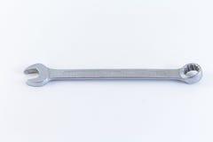 Χάλυβας γαλλικών κλειδιών στο άσπρο υπόβαθρο Στοκ φωτογραφία με δικαίωμα ελεύθερης χρήσης