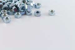 Χάλυβας καρυδιών στο άσπρο υπόβαθρο Στοκ φωτογραφίες με δικαίωμα ελεύθερης χρήσης