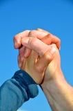 χέρια αέρα Στοκ Εικόνες