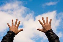 χέρια αέρα Στοκ φωτογραφίες με δικαίωμα ελεύθερης χρήσης