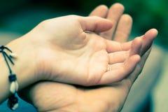 Χέρια αγάπης Στοκ Εικόνες