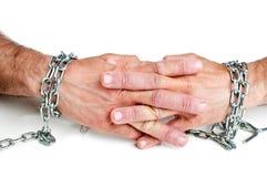 χέρια αλυσίδων Στοκ εικόνες με δικαίωμα ελεύθερης χρήσης