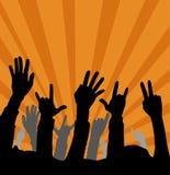χέρια ανεμιστήρων στοκ εικόνες με δικαίωμα ελεύθερης χρήσης
