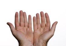 χέρια ανοικτά Στοκ εικόνες με δικαίωμα ελεύθερης χρήσης