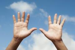 χέρια ανοικτά Στοκ εικόνα με δικαίωμα ελεύθερης χρήσης