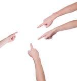 Χέρια ατόμων στα άσπρα υπόβαθρα Στοκ φωτογραφίες με δικαίωμα ελεύθερης χρήσης
