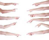Χέρια ατόμων στα άσπρα υπόβαθρα Στοκ εικόνες με δικαίωμα ελεύθερης χρήσης