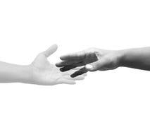 Χέρια αφής με τη μοναξιά φαντασμάτων Στοκ φωτογραφία με δικαίωμα ελεύθερης χρήσης