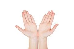 Χέρια γυναικών που απομονώνονται στοκ φωτογραφίες με δικαίωμα ελεύθερης χρήσης