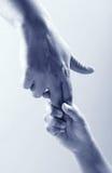 χέρια δύο Στοκ φωτογραφία με δικαίωμα ελεύθερης χρήσης