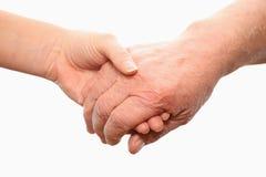 χέρια δύο Στοκ Εικόνες