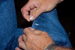 Χέρια ενός ατόμου Στοκ Φωτογραφία