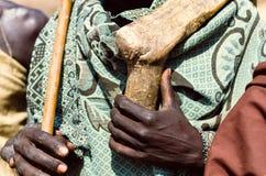 Χέρια ενός ατόμου Arbore, Αιθιοπία Στοκ Εικόνες