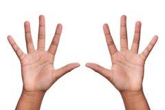 χέρια επάνω Στοκ Εικόνες