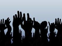 χέρια επάνω Στοκ Φωτογραφίες