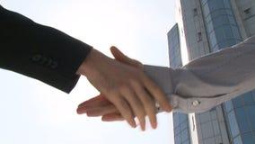 χέρια επιχειρηματιών που τ απόθεμα βίντεο