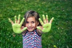 χέρια ευτυχή Στοκ Εικόνες