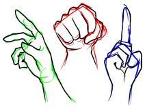 Χέρια - διάνυσμα αποθεμάτων απεικόνιση αποθεμάτων