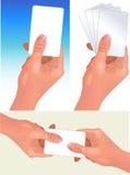 χέρια καρτών ελεύθερη απεικόνιση δικαιώματος