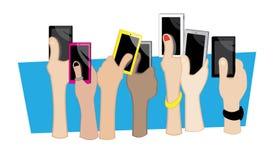 Χέρια κινητά Στοκ εικόνα με δικαίωμα ελεύθερης χρήσης