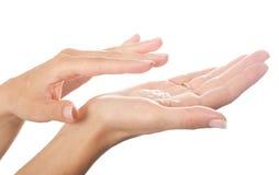 χέρια κρέμας Στοκ Εικόνα